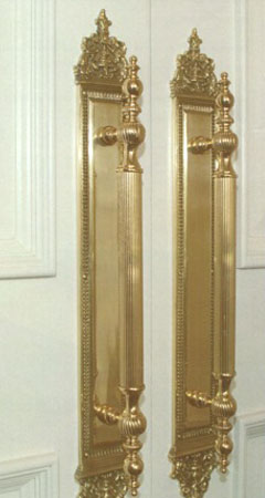Grand Palais Ornate Door Pull Plate & Door Pulls for Entry Doors - Doorware.com Pezcame.Com
