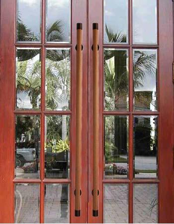First Impressions Mahogany Wood Door Pull