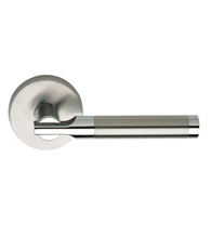 Two-Tone Stainless Steel Door Leverset, Omnia #23