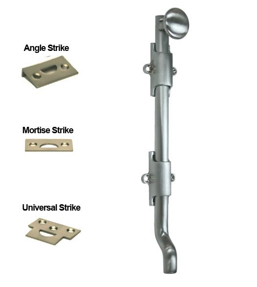Solid Brass 10 Inch Offset Surface Bolt Doorware Com