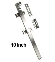 10 Inch Stainless Steel Surface Bolt, Deltana DEL-10SSB32D