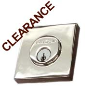 Polished Stainless Steel Square Deadbolt, Fusion S7-0