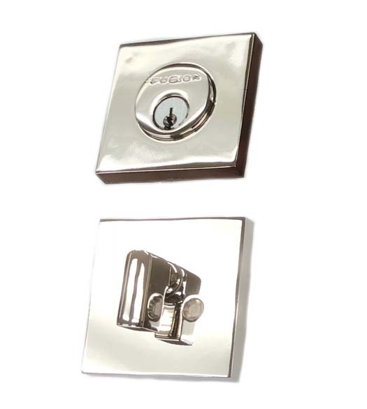 Polished Stainless Square Deadbolt
