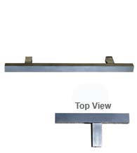 Modern Square Stainless Steel Cabinet Pull, First Impressions SQDP/x-US32D