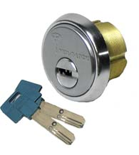 High Security 1 Inch Mortise Cylinder, Mul-T-Lock 206SP-MOR0C01-xx