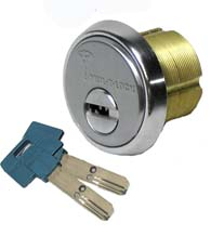 High Security 1-1/2 Inch Mortise Lock Cylinder, Mul-T-Lock 206SP-MOR4C01