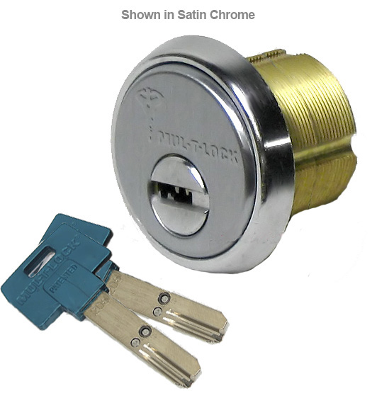 High Security 1-1/2 Inch Mortise Cylinder