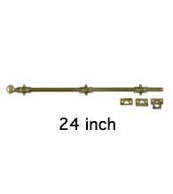 Solid Brass 24 Inch Surface Bolt, Deltana 24SB