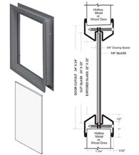 24 x 24 Lite Kit with Clear Glass, NGP L-FRA100-24x24-PyranF