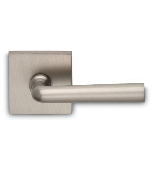 Solid Brass Chic Door Lever With Square Rose