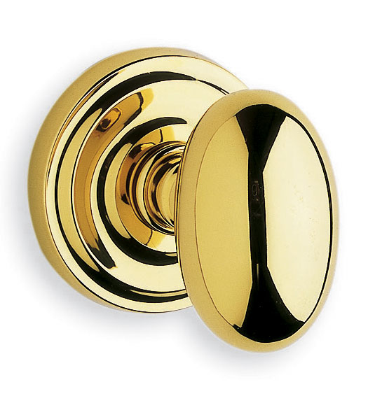 Oval Solid Brass Door Knob With 2-7/8 Inch Projection, Omnia 432/00 ...