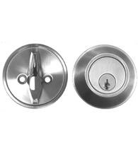 Satin Stainless Steel Grade 1 Single Cylinder Deadbolt AHI