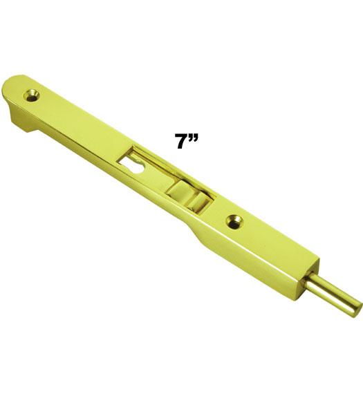 Solid Brass 7 Inch Flush Bolt