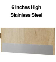 6 Inch High Stainless Steel Door Kick Plates