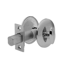 Single Sided Deadbolt With Exposed Outside Trim Deadbolt, Kwikset 667
