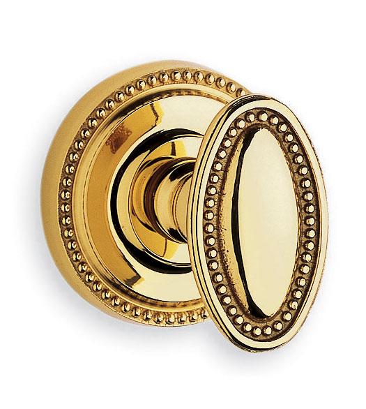 Fancy Oval Beaded Door Knob Latchset, Omnia 723/00 - Doorware.com