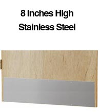 8 inch High Stainless Steel Door Kick Plates