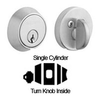 Contemporary Single Cylinder Deadbolt For 1-5/8 Inch Door Preparations, Baldwin 8041