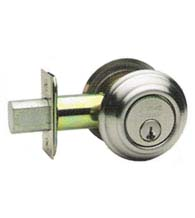 Traditional Max Steel Single Cylinder Deadbolt, Omnia D0806TA-MS