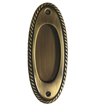 Solid Brass Oval Rope Design Flush Pull FII-806