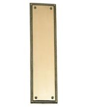 Academy Rope Solid Brass Push Plate Brass Accents A06-P0240  sc 1 st  Doorware.com : decorative door plates - pezcame.com