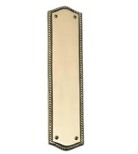 Trafalgar Rope Solid Brass Push Plate, Brass Accent A06-P0250