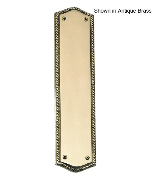 A06-P0250 Rope Style Brass Door Push Plate