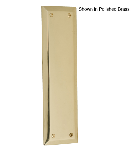 A07-P5400 Quaker Door Push Plate