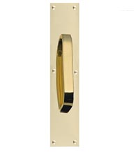 Solid Brass Door Pull Plates, Brass Accents