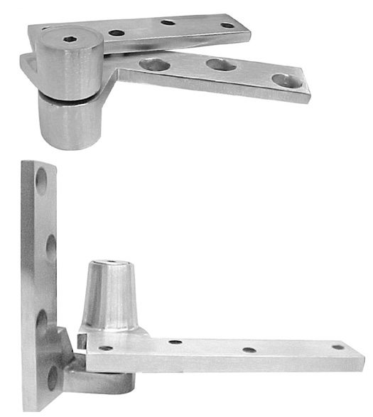 Jamb mounted heavy door 3 4 inch offset pivot set abh 0195 for Pivot hinges for interior doors