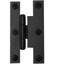 Offset Smooth Iron 3 Inch H Cabinet Hinges, Acorn AH2BQ