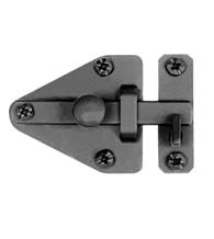Smooth Black Iron Arrowhead Cabinet Latch, Acorn AL5BR