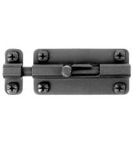 Smooth Black Iron Slide Barrel Bolt, Acorn ALFBP