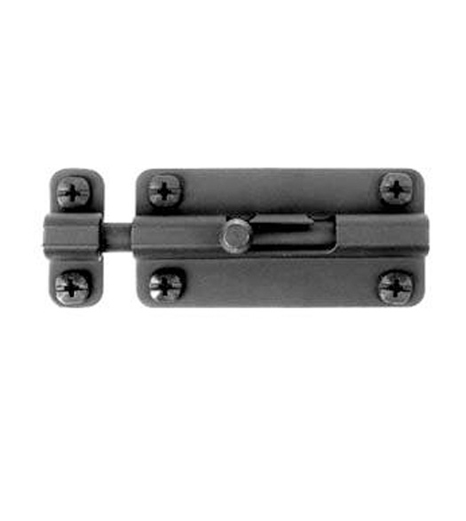Smooth Black Iron 4 Inch Slide Barrel Bolt