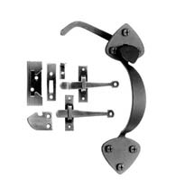 Spear Tip Forged Iron Rim Latch Set, Acorn AT7BR