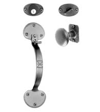 Large Bean Tip Entrance Door Mortise Lockset, Acorn ATZBD / ATZBI