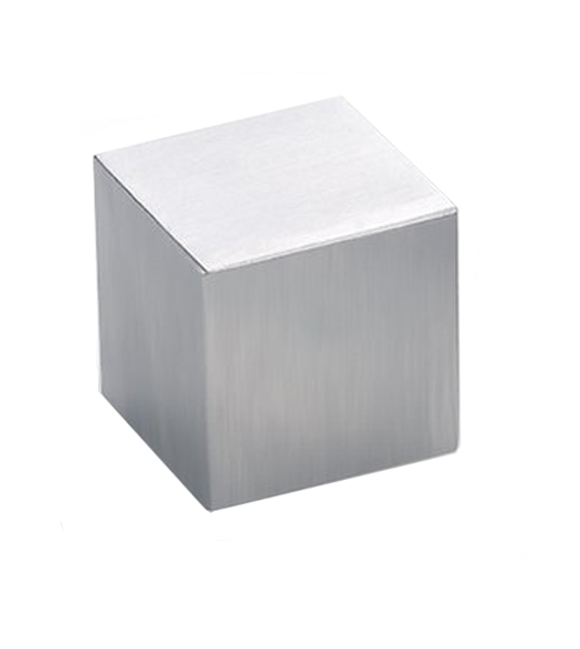 Modern Cube Stainless Steel Cabinet Knob, Acorn AZC211