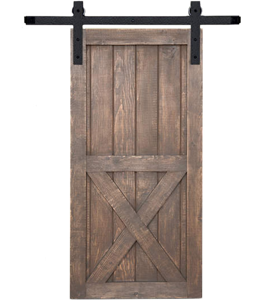 6\u0027 Track Square Mount Barn Door Hardware Kit  sc 1 st  Doorware.com & Hammered Steel Barn Door Kit for 36 Inch Doors Acorn BH3BI-6 ...
