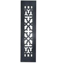 14 x 3-1/2 Cast Iron Grille Without Screw Holes, Acorn GR3BG