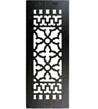 14 x 5-1/2 Cast Iron Grille Without Screw Holes, Acorn GR7BG