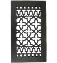 14 x 8 Cast Iron Grille Without Screw Holes, Acorn GRBBG