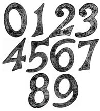 Rough Iron House Numbers, Acorn RNxBP