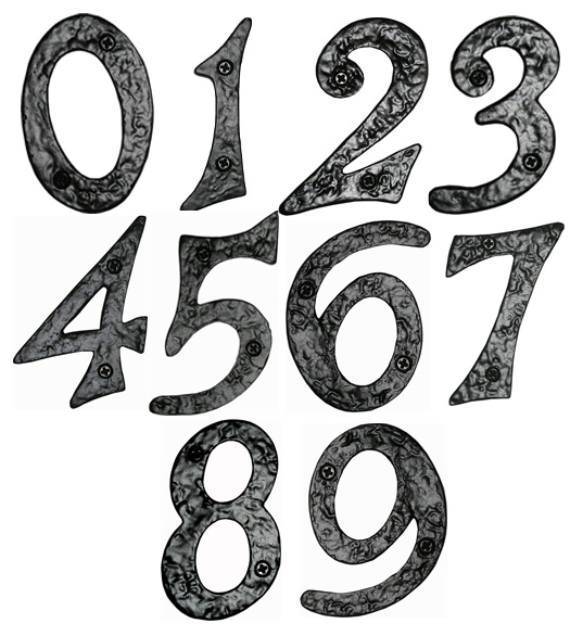 Rough Iron House Numbers