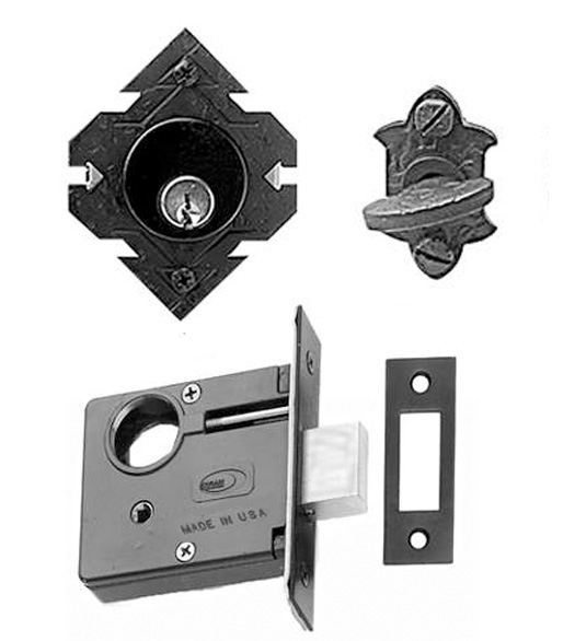 Single Cylinder Adobe Iron Mortise Deadbolt