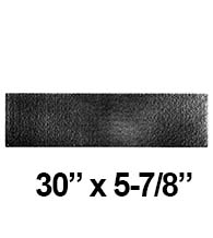 30 x 5-7/8 Rough Black Iron Door Kick Plate, Acorn RMRBP