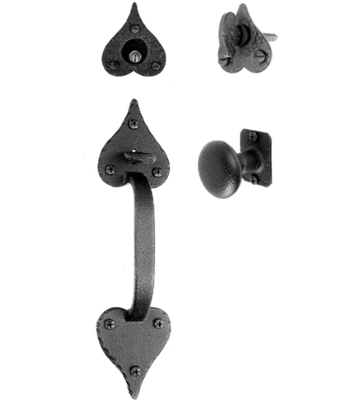 Heart Tip Mortise Handleset With Knob