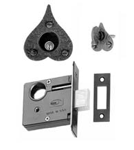 Heart Single Cylinder Mortise Deadbolt, Acorn RTQBI