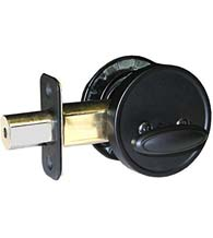 Matte Black Single Cylinder Deadbolt, Acorn SC9BG
