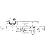 Bottom Rail Deadbolt, Adams Rite MS1861-01