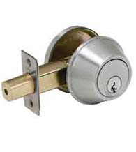Satin Chrome Standard Duty Commercial Deadbolt, PDQ KV Series